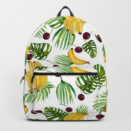 bananas and cherries - fruit pattern no2 Backpack