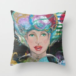 GlamGal Throw Pillow