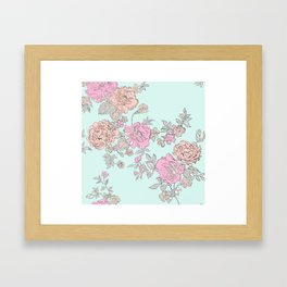 FLORAL HAPPINESS Framed Art Print