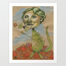 AUTUMN CROC Art Print