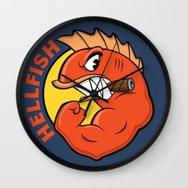 The Flying Hellfish Wall Clock