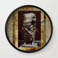 greece Wall Clocks featuring Greece  by Saundra Myles
