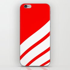 Abstract pattern - red and white. iPhone Skin
