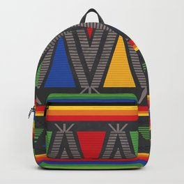 Mexican Geometric Pattern Backpack