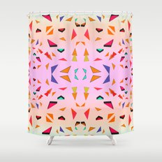 Triangle Tropical Confetti  Shower Curtain