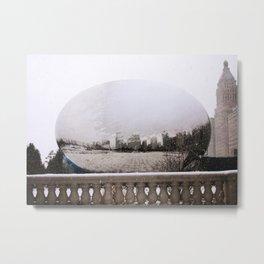 Snowy Bean Metal Print