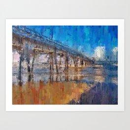 Pier of Mongaguá Beach Art Print