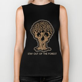 Stay Out of the Forest Biker Tank