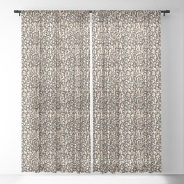 Leopard Print Sheer Curtain