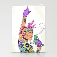 tank girl Stationery Cards featuring Tank Girl by MATT DEMINO
