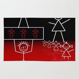 stick figures -03- Rug