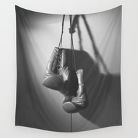 boxing Wall Tapestries featuring Boxing BXNG by Rafael Igualada