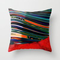 rave Throw Pillows featuring Rave by Neelie