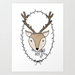 Delightful Deer Art Print