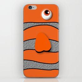Orange ornamental fish cartoons iPhone Skin