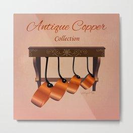 Antique Copper Collection Metal Print