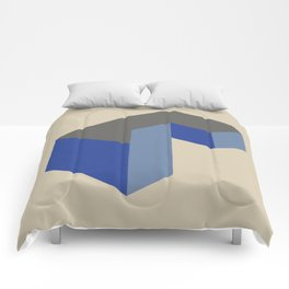 'Iso-cube Blue' Comforters