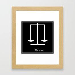 Libra ~ Libraque ~ Zodiac series Framed Art Print