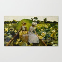 Charles Courtney Curran (1861-1942) Lotus Lilies 1888 Canvas Print