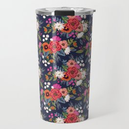 Bohemian Bouquets Floral Pattern Travel Mug