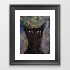 Ninja Cat Framed Art Print