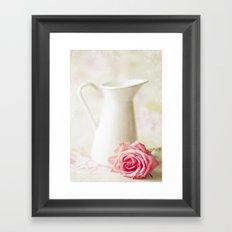 Vintage Rose Chic  Framed Art Print