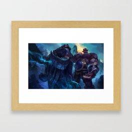 Classic Braum League Of Legends Framed Art Print