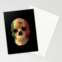 Mexican Flag Skull Design for Men and Women Stationery Cards