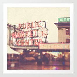 Seattle Pike Place Public Market photograph, 620 Art Print