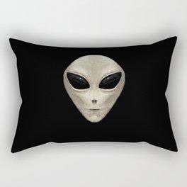 Grey Alien Rectangular Pillow