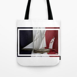 Le Coureur, french flag Tote Bag