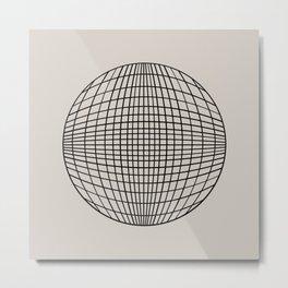 Circular Geometry - Grid Metal Print