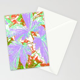 GERANIUM LEAVES SILVER/MULTI Stationery Cards