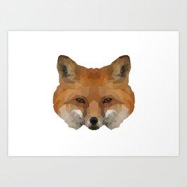 Geometrical Red Fox Art Print