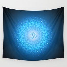Cosmic mandala. Shanti Om Wall Tapestry
