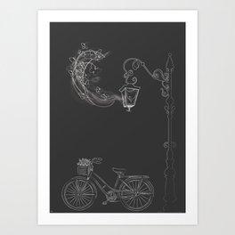 Under the Lamp Art Print