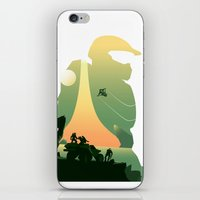 master chief iPhone & iPod Skins featuring Master Chief by DamianSantamaria