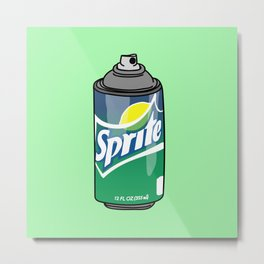 sprite can spray can Metal Print