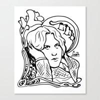 oscar wilde Canvas Prints featuring Oscar Wilde by LiseRichardson