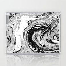 Masuki - black and white minimal spilled ink marbled paper marble texture marbling marble painting Laptop & iPad Skin