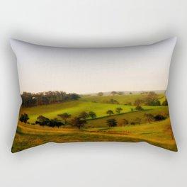 Morning shadows over the Alpine Ranges Rectangular Pillow