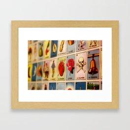 Lotería Framed Art Print