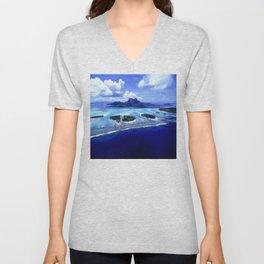Bora Bora Island Tropical Paradise Unisex V-Neck