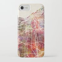 cleveland iPhone & iPod Cases featuring Cleveland by MapMapMaps.Watercolors