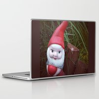 gnome Laptop & iPad Skins featuring Chubby Gnome by Amber Dawn Hilton
