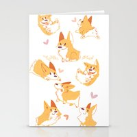 corgi Stationery Cards featuring Corgi by Inkinesss