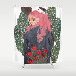 Holding plant Shower Curtain