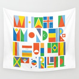 What A Wonderful World II Wall Tapestry