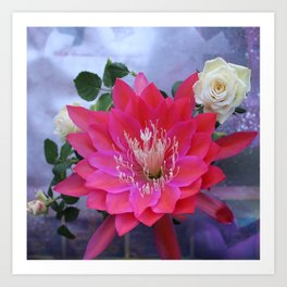 Roses Are White, Cactus is Rose... Art Print