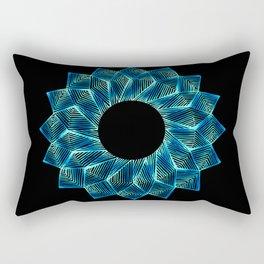 Inverted Threaded Lotus Rectangular Pillow